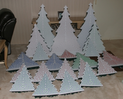 Completed Coro Trees with Lights